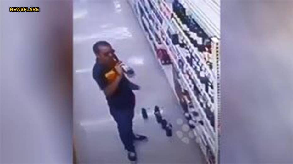Thai shopper opens $60 worth of wine to taste in supermarket before purchasing