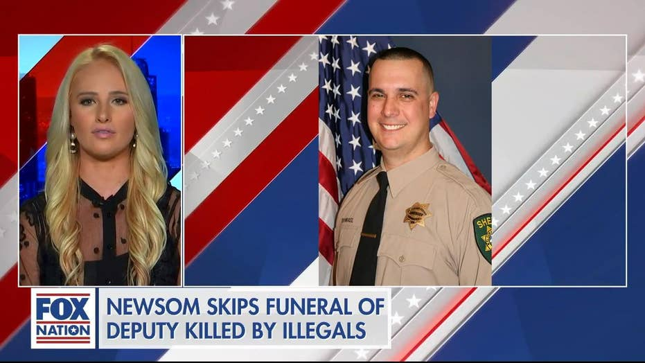 Tomi Lahren slams Gov. Newsom after he skips funeral of deputy killed by illegal immigrants