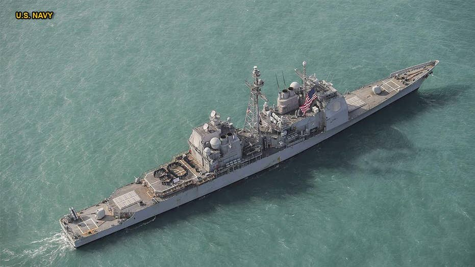 USS Chancellorsville sails through Taiwan Strait in message to China
