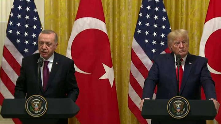 Trump holds news conference with Turkish president