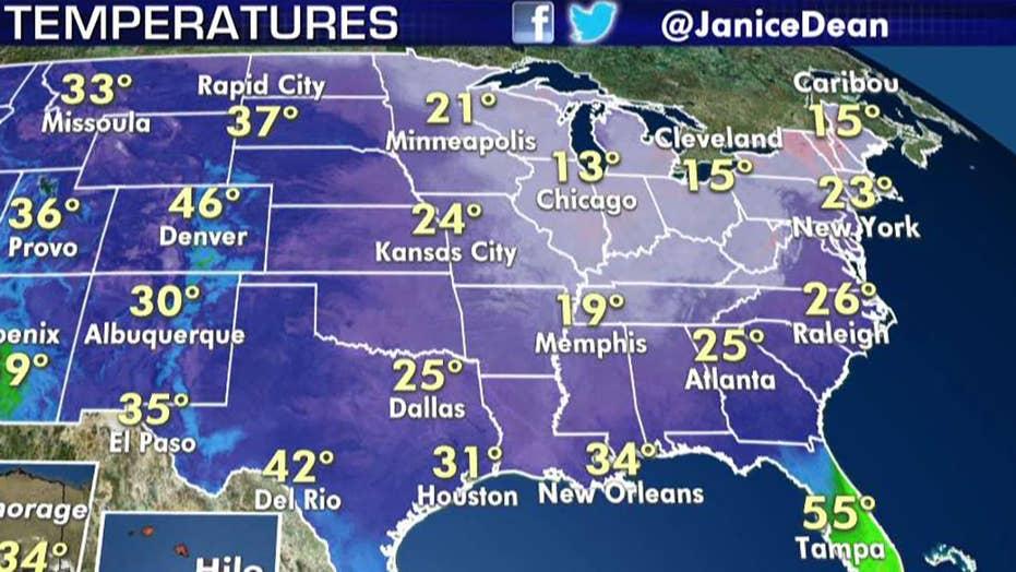 National forecast for Wednesday, November 13