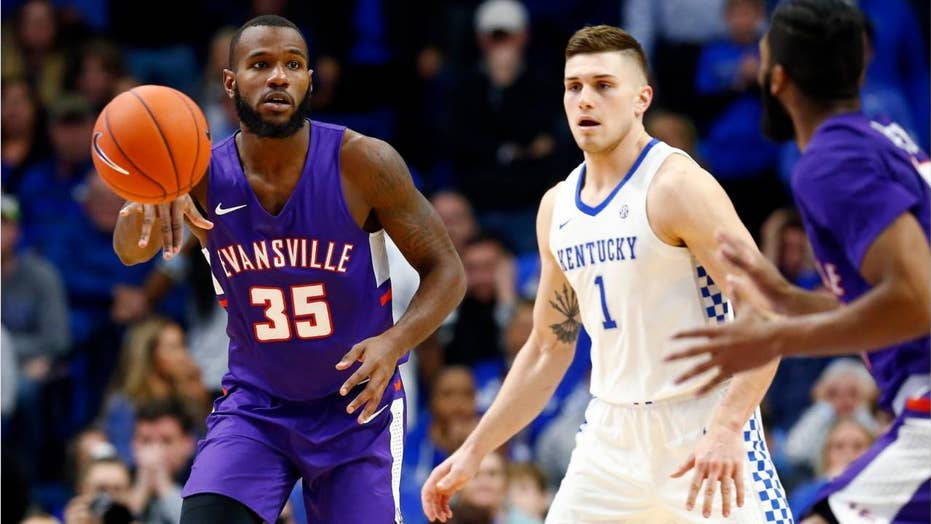 Evansville upsets No. 1 Kentucky at Rupp Arena in first-ever matchup
