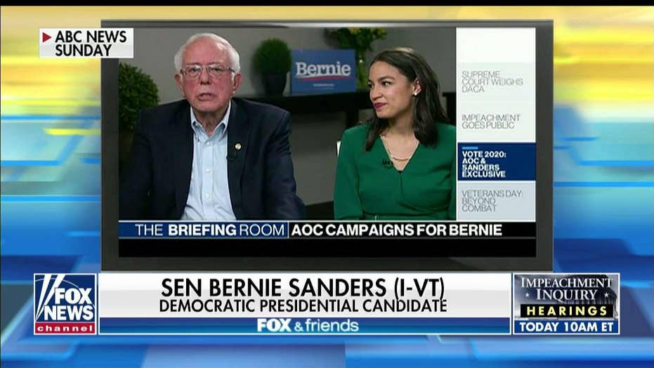 Bernie Sanders: AOC will have key role in White House if I'm elected president