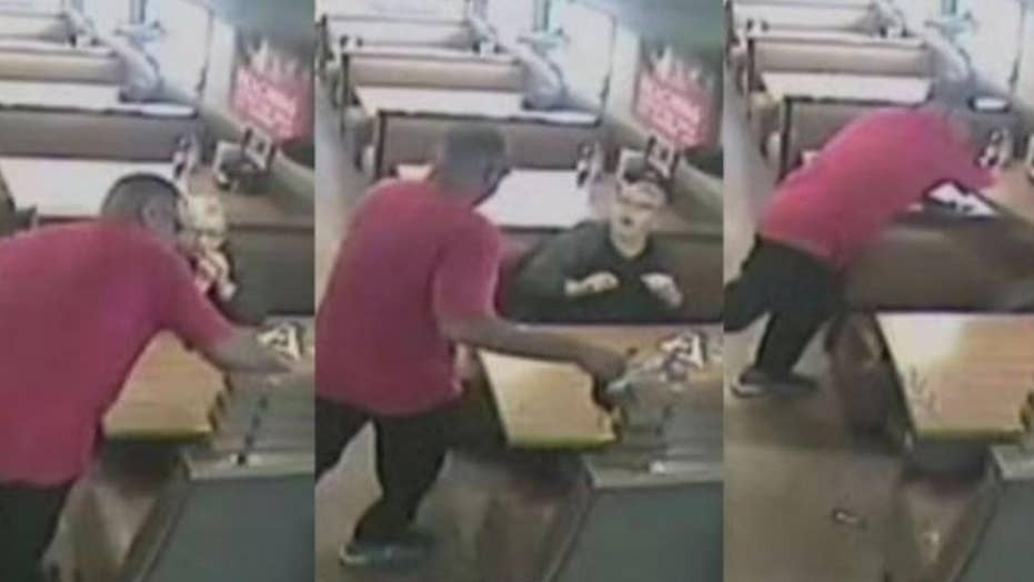 IHOP patrons randomly attacked by stranger with coffee pot inside restaurant