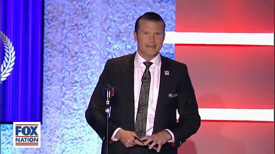 Pete Hegseth had this sewn into his jacket for red carpet appearance