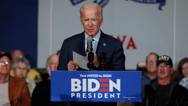 Joe Biden campaigns off impeachment inquiry hearings
