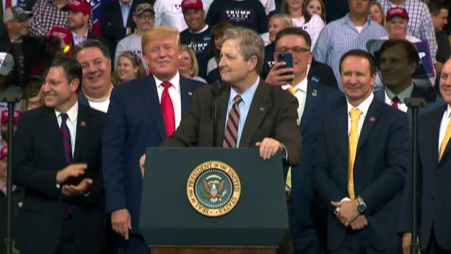 Sen. John Kennedy rips Democrats at Trump rally: Unlike the 'latte-drinking, avocado toast-eating insider elite,' I'm a 'proud deplorable'