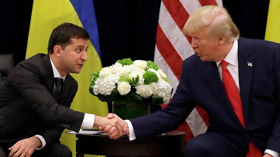 Ukrainian president says he felt no pressure on his phone call with Trump