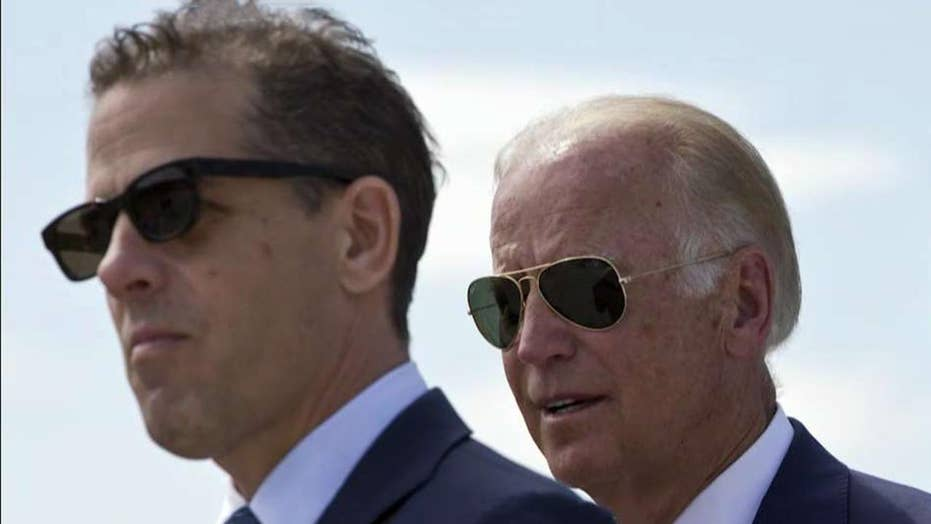 2020 Democrat Joe Biden bogged down by questions about son Hunter Biden