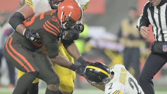 Browns player suspended indefinitely for helmet swing at Steelers quarterback