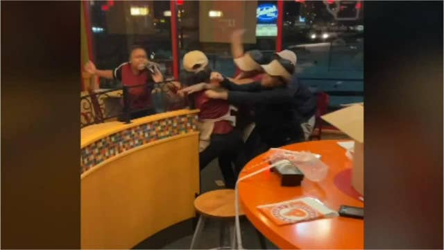 Seven Popeyes employees fired following wild brawl caught on film