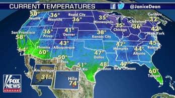 National forecast for Tuesday, November 19