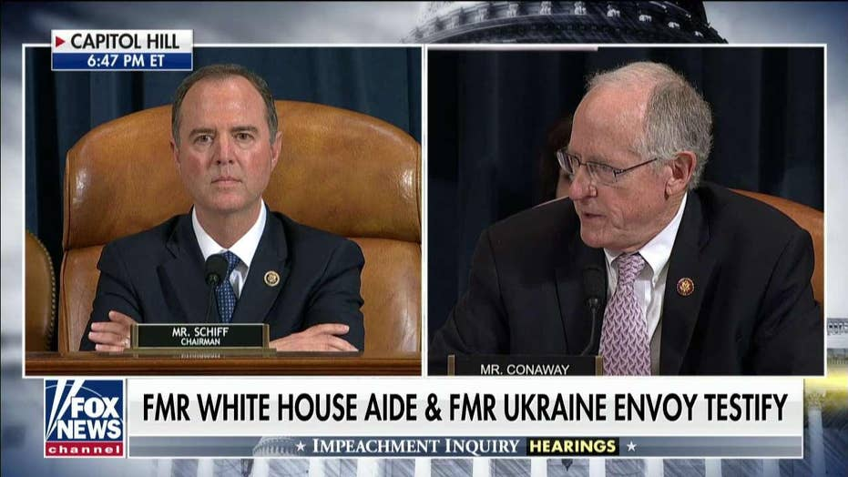 Mike Conaway grills Adam Schiff on whistleblower policy