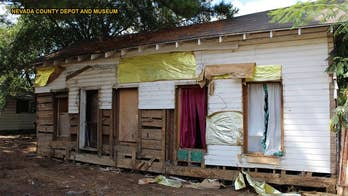 Civil War log cabin found inside house during demolition
