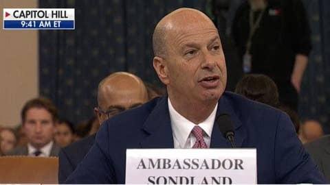 'Giuliani's requests were a quid pro quo': Sondland