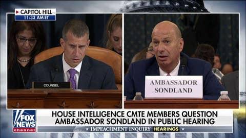 Amb Sondland: I 'assumed' Giuliani was acting on Trump's behalf