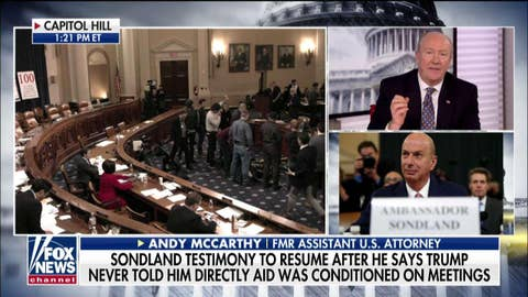 Andy McCarthy: There's a 'flaw' in Schiff's claims of bribery by Trump as an impeachable offense
