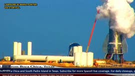 SpaceX Starship prototype partially explodes during test