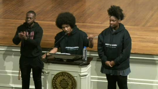 Syracuse University students demand action following string of 'hateful incidents'