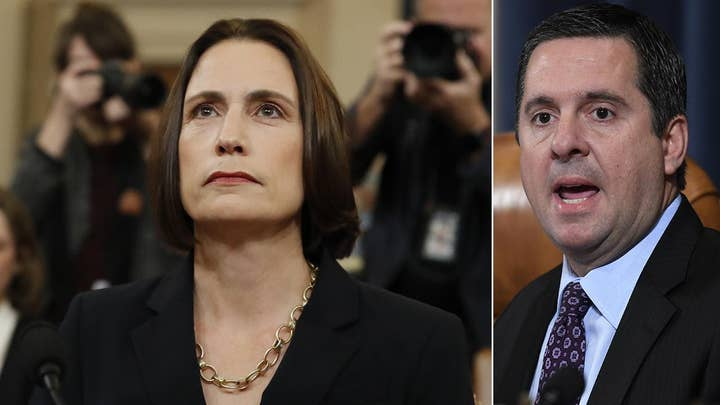 Devin Nunes presses Fiona Hill over the Steele dossier and its origins