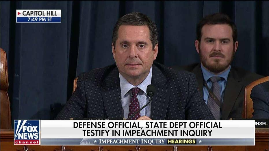 Nunes slams impeachment 'three-card monte,' yields to Schiff for 'storytime hour'