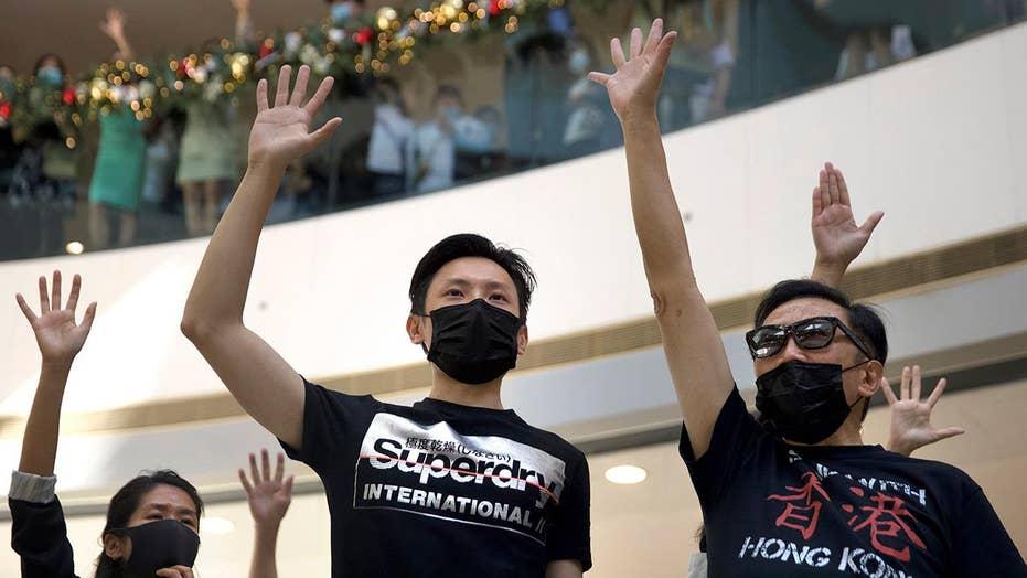 Hong Kong protesters urge President Trump to sign Hong Kong Human Rights Bill