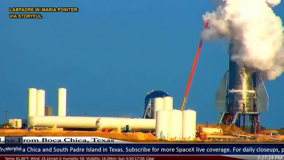 Prototype SpaceX Starship partially explodes during pressure test