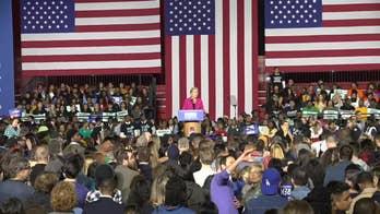 Protestors interrupt Elizabeth Warren's speech at Clark Atlanta University