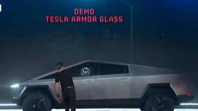 Shatter-proof glass smashes during Tesla's Cybertruck electric pickup demo
