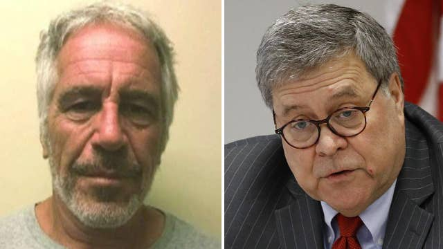Attorney General William Barr says Jeffrey Epstein's suicide resulted from 'perfect storm of screw-ups'
