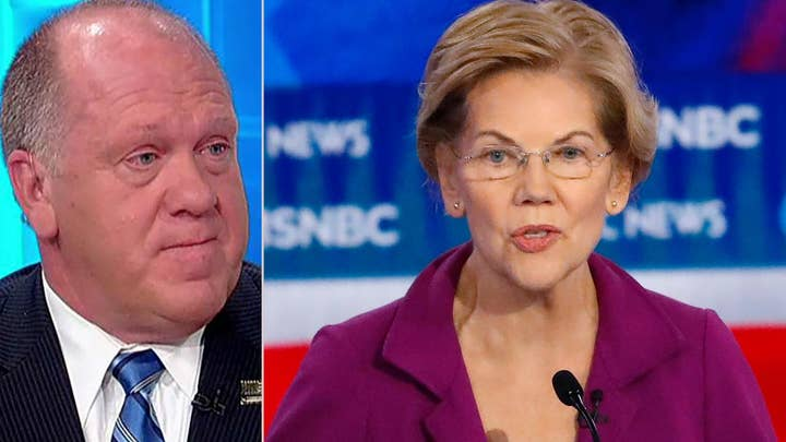 Tom Homan sounds off after Warren says taxpayers could pay to remove border wall
