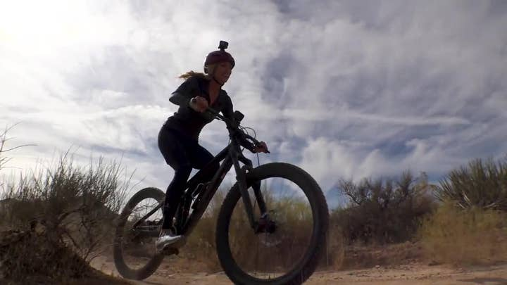 Fox Nation's Abby Hornacek takes a spill in tour of Zion