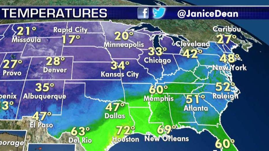 National forecast for Friday, November 22