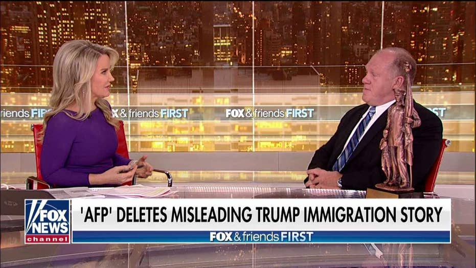 Tom Homan reacts after 'AFP' deletes misleading Trump immigration story