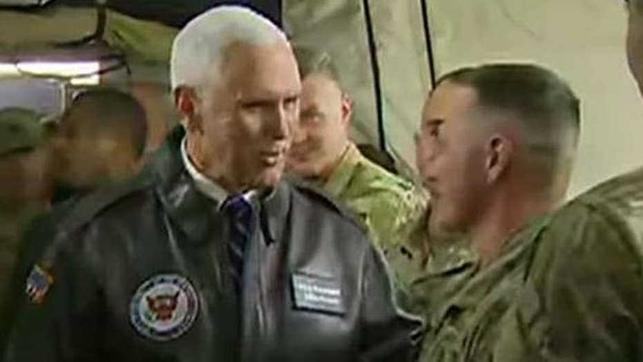 Vice President Pence surprises troops in Iraq
