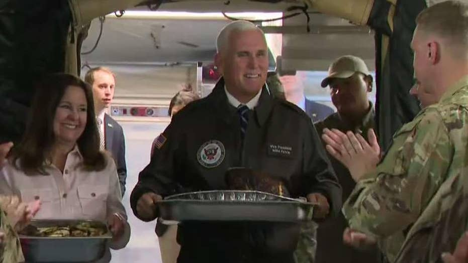 Vice President Pence visits troops in Iraq for surprise trip before Thanksgiving