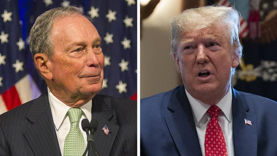 Image result for Bloomberg versus Trump