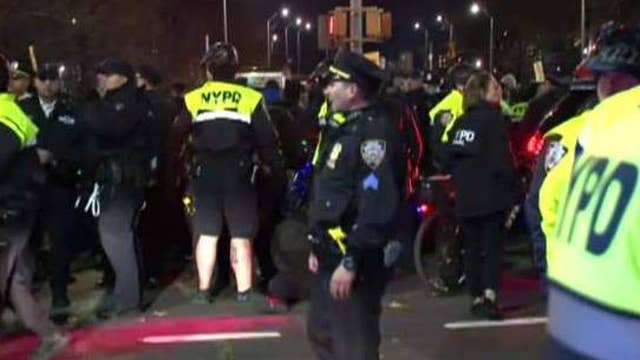 Anti-police rhetoric ramps up in NYC as protesters flood streets