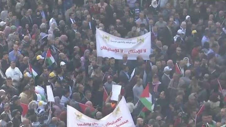 Palestinians protest in 'day of rage' against US and Israel; new rocket fire from Gaza into Israel