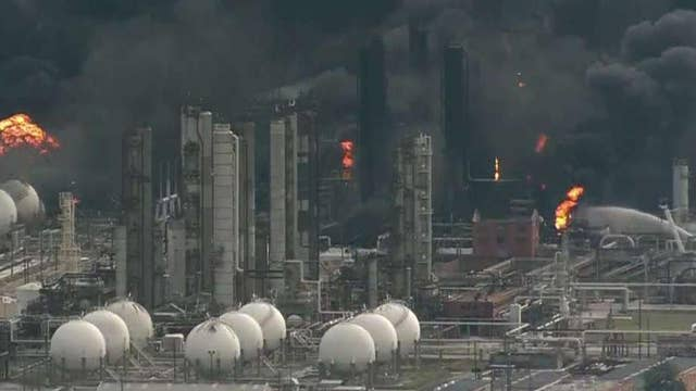 Fires burn at chemical plant in Port Neches, Texas