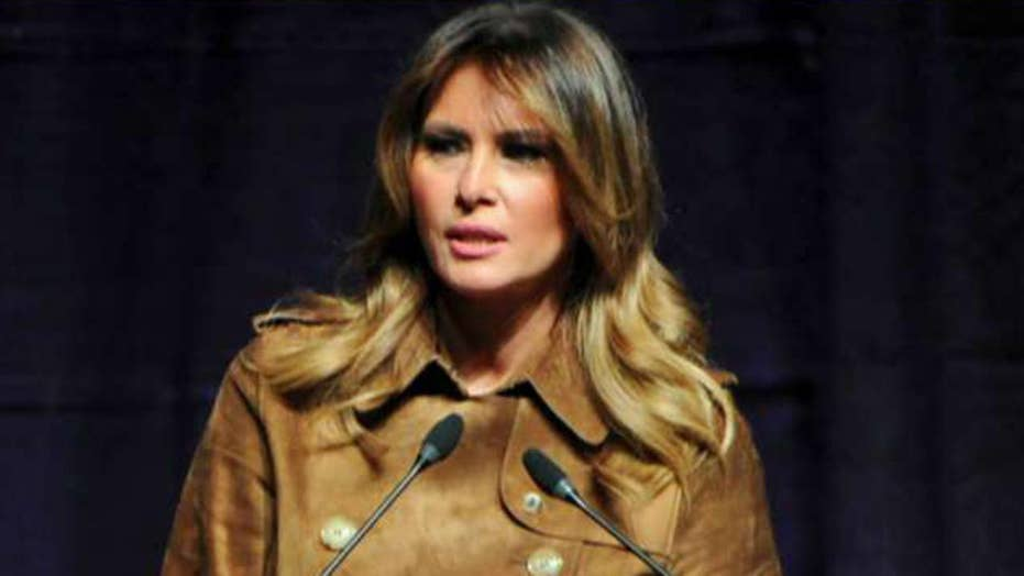 Melania Trump booed at opioid awareness summit