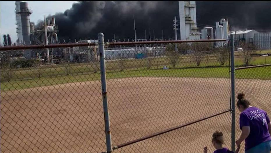 Fire continues to burn at Texas chemical plant