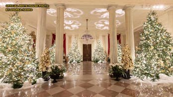 White House's 'Spirit of America' themed Christmas decorations unveiled