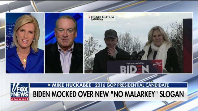 Mike Huckabee on Joe Biden's new 'No Malarkey' slogan