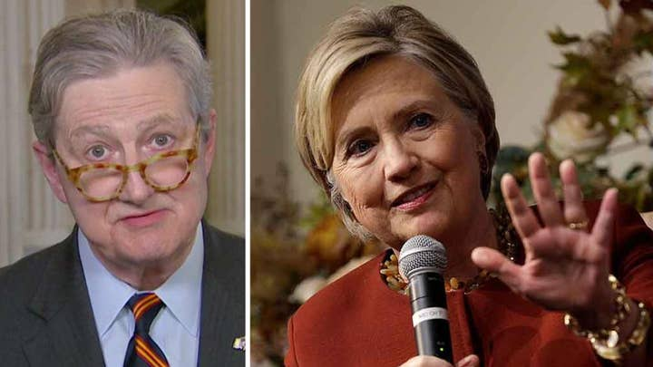 Sen. John Kennedy responds to Hillary Clinton's accusations on 'parroting Russian propaganda'