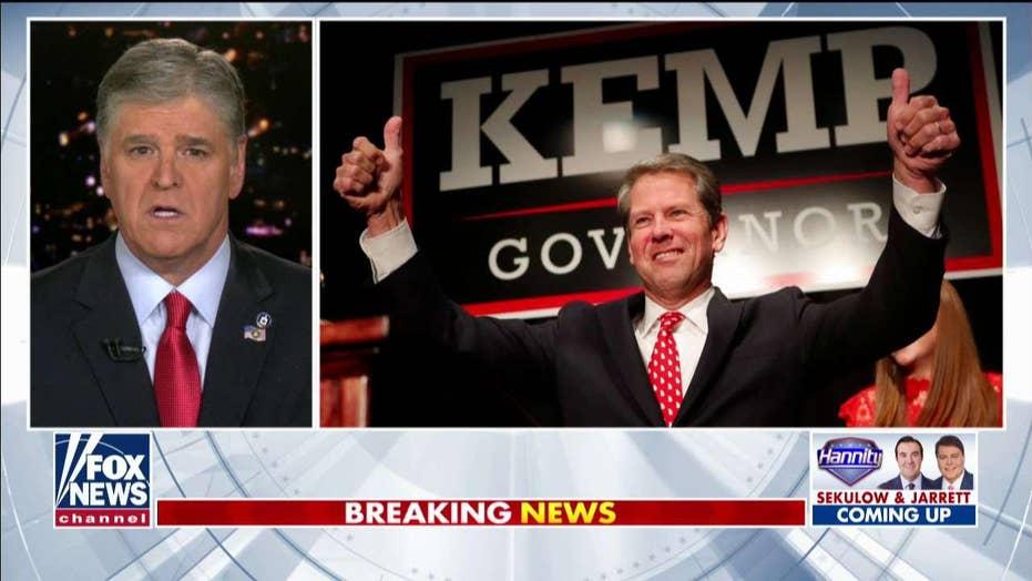 Sean Hannity questions Georgia GOP governor's US Senate pick, presses for anti-impeachment 'rock-star' Doug Collins