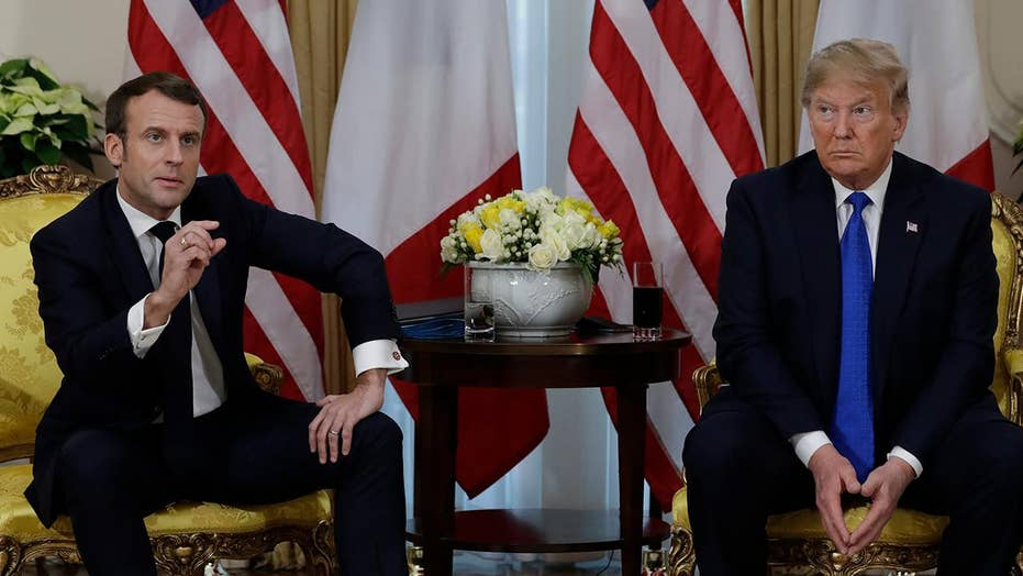 President Trump and France's Macron clash on NATO and ISIS