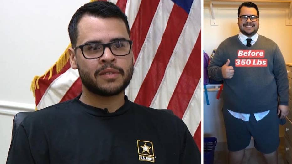 Man loses over 150 pounds to fulfill his dream of joining the military
