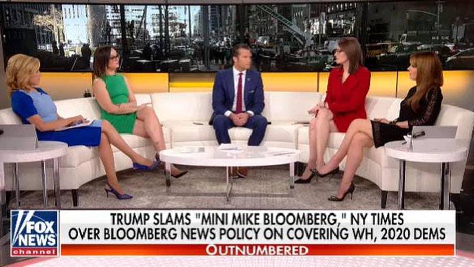 Trump slams 'mini Mike Bloomberg' and 'failing' New York Times