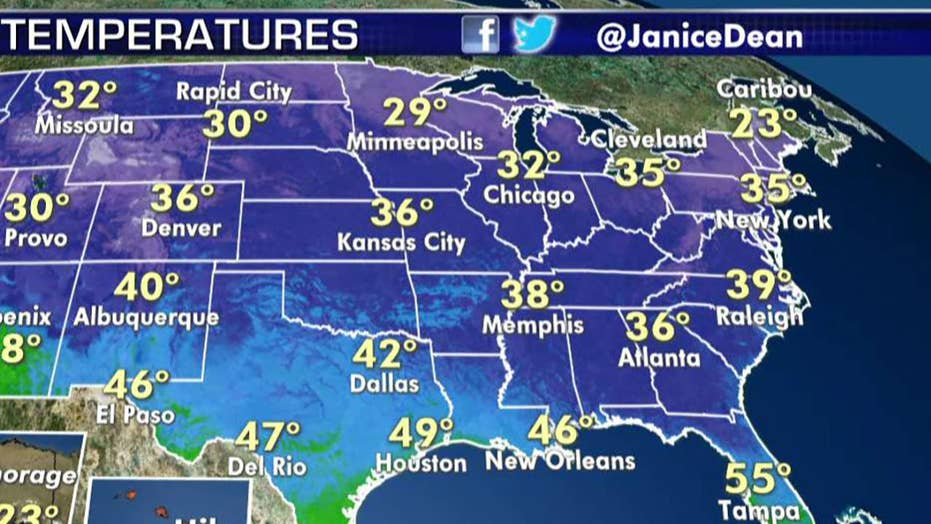 National forecast for Wednesday, December 4